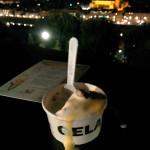 Sbrisolona ice-cream and landscape
